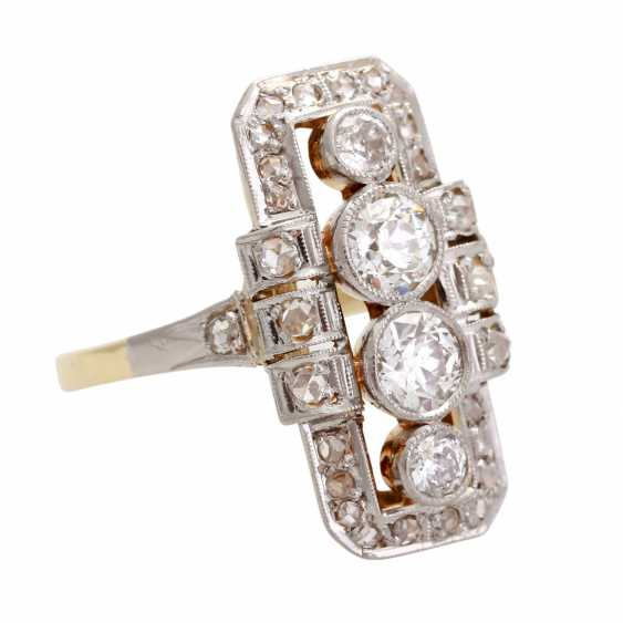 ART DECO Ring with diamonds, approximately 0.8 ct, - photo 2
