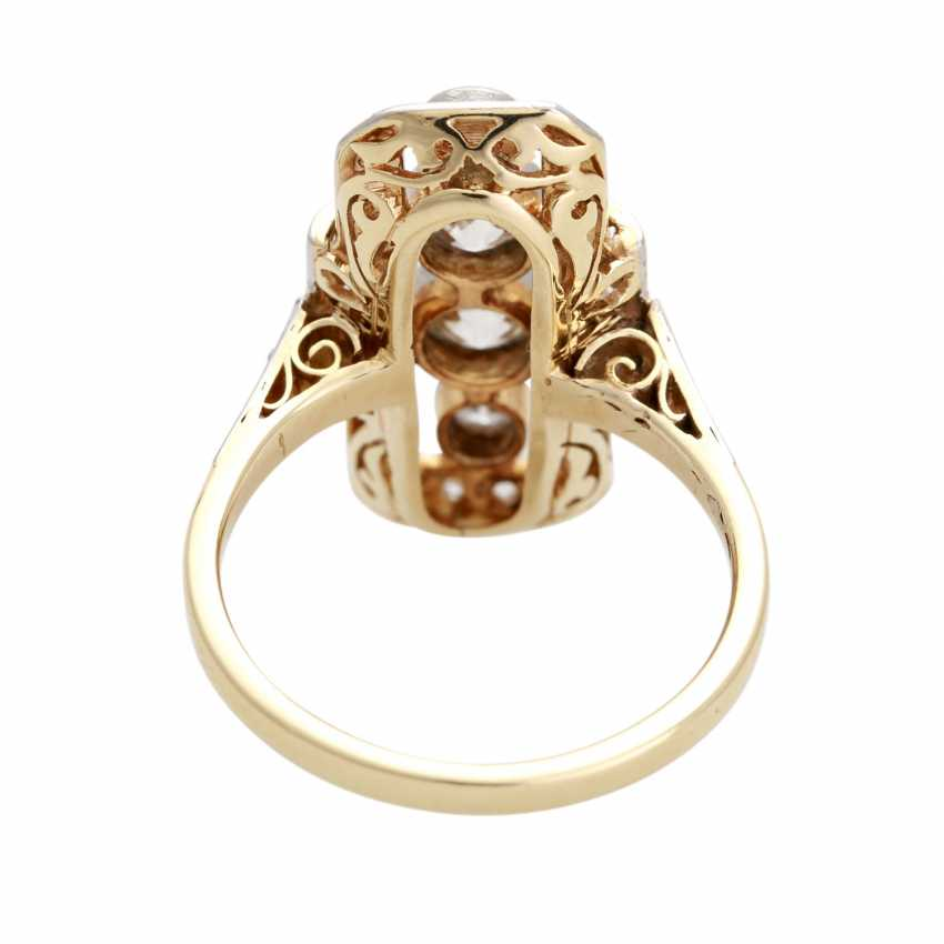 ART DECO Ring with diamonds, approximately 0.8 ct, - photo 4