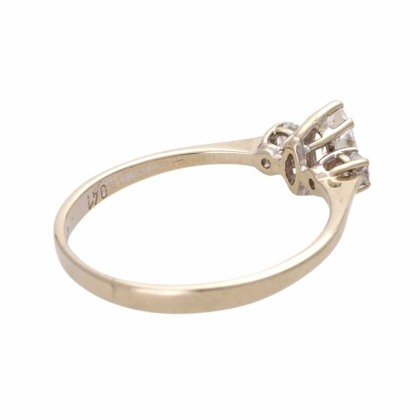 Ladies ring studded with 1 Diam.- Navette - photo 3