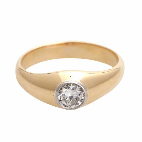 Engagement ring with 1 diamond, approx 0,45 ct; - photo 1