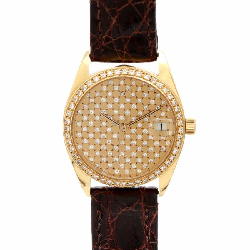 Ladies watch in 18K Gold with Diam.-Bezel & Diam.-Dial. - photo 1