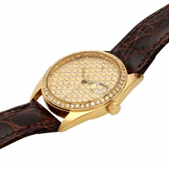 Ladies watch in 18K Gold with Diam.-Bezel & Diam.-Dial. - photo 4