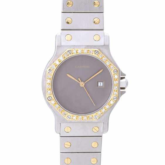 CARTIER Santos women's watch, CA. 1980/90s. Stainless steel/Gold 18K. - photo 1