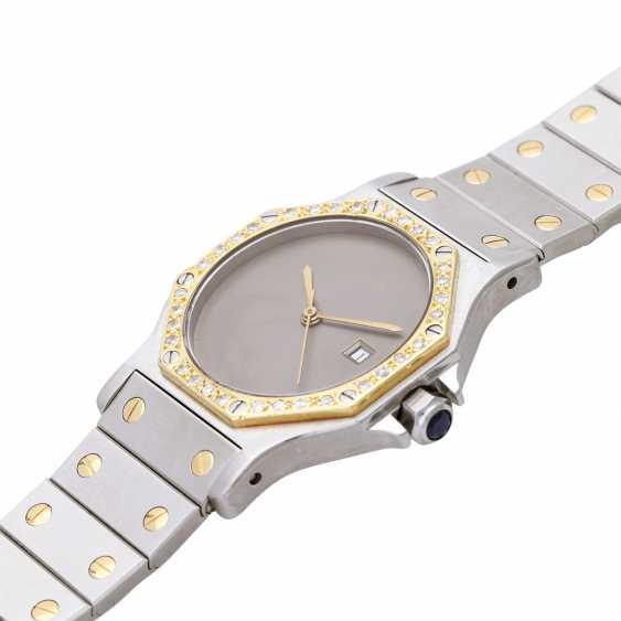 CARTIER Santos women's watch, CA. 1980/90s. Stainless steel/Gold 18K. - photo 4