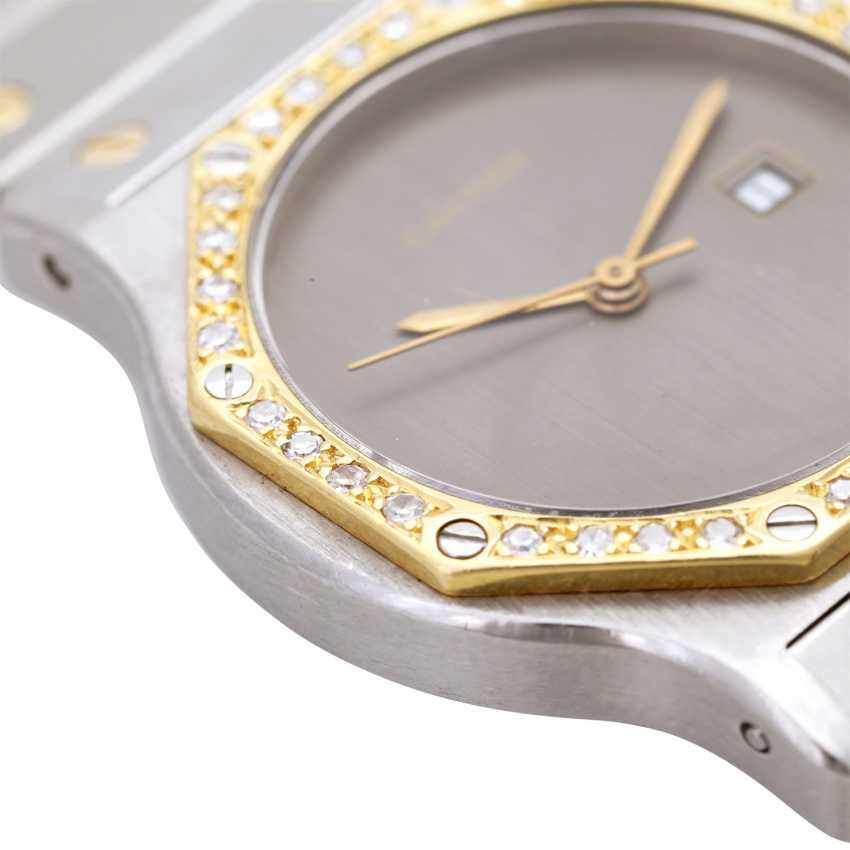 CARTIER Santos women's watch, CA. 1980/90s. Stainless steel/Gold 18K. - photo 5