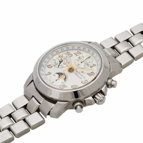 MAURICE LACROIX Croneo men watch with calendar and moon-phase, Ref. 02736. Stainless steel. - photo 4