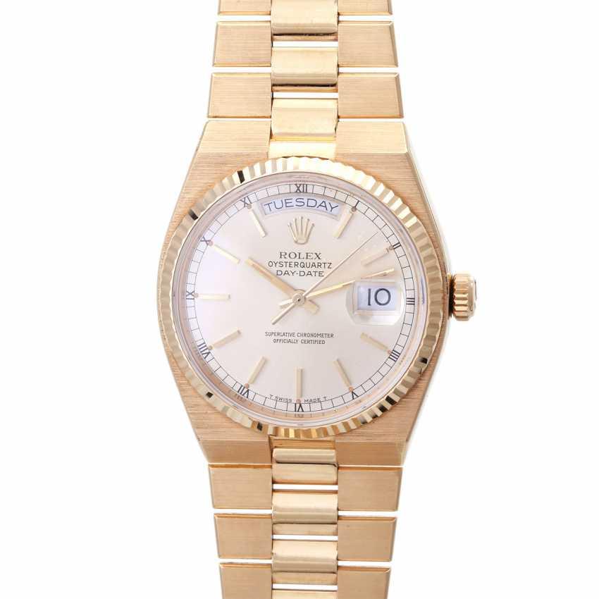 ROLEX oyster quartz Day-Date men's watch, Ref. 19018, approx. 1970/80s. Gold 18K. - photo 1