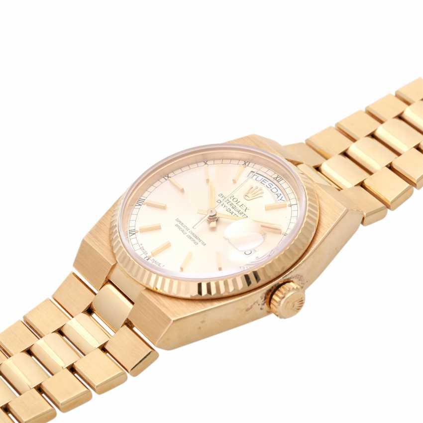 ROLEX oyster quartz Day-Date men's watch, Ref. 19018, approx. 1970/80s. Gold 18K. - photo 4
