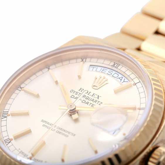 ROLEX oyster quartz Day-Date men's watch, Ref. 19018, approx. 1970/80s. Gold 18K. - photo 5