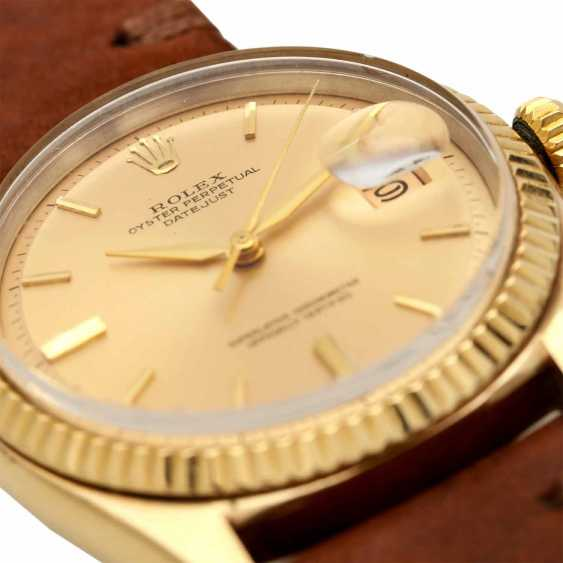 ROLEX Oyster Perpetual Datejust, Ref. 1601, ca. 1960er Jahre. Gold 14K. - photo 5