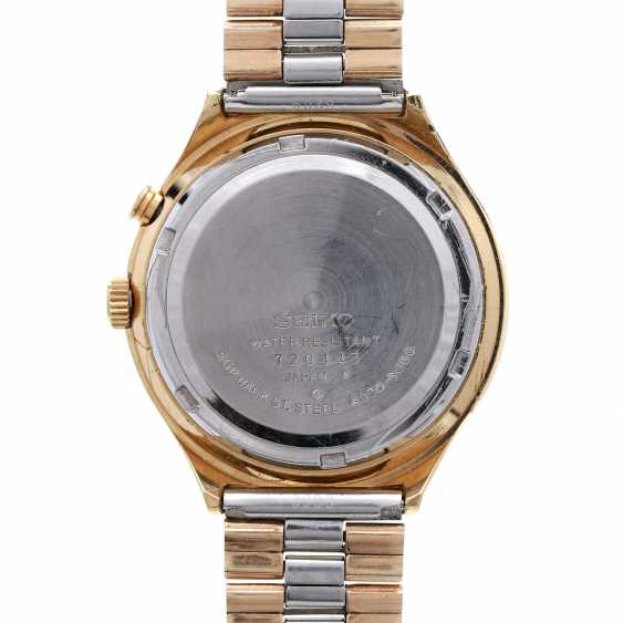 SEIKO Bell-Matic Vintage mens watch, Ref. 4006-6060, CA. 1970s. Gold Plated Case. - photo 2