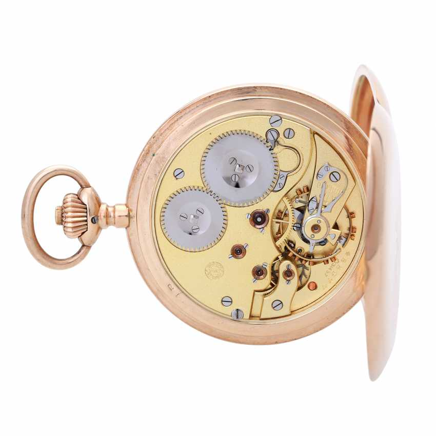 IWC pocket watch, CA. 1910/15, Savonette-case in rose Gold 14K - photo 3