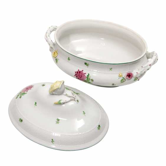 HEREND oval lid terrine 'scattered flowers', 2 to. Choice, 20. Century - photo 4