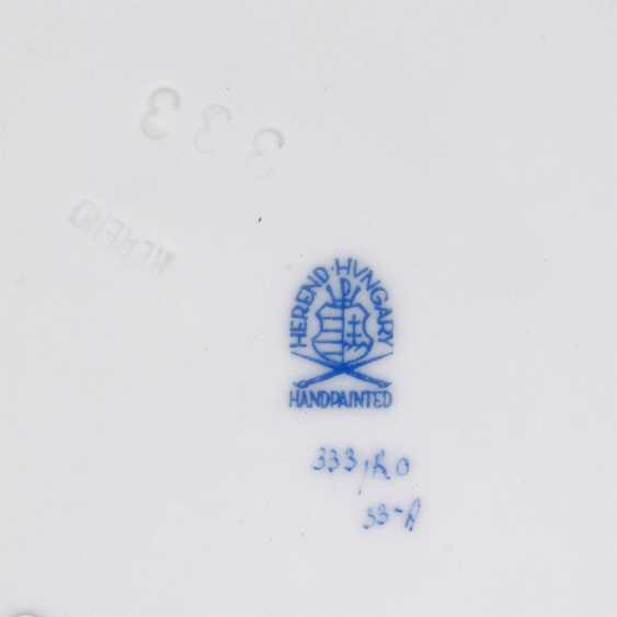 HEREND Konvolut 'Rothschild', 10-teilige, 20. JahrhunderTiefe: - photo 5
