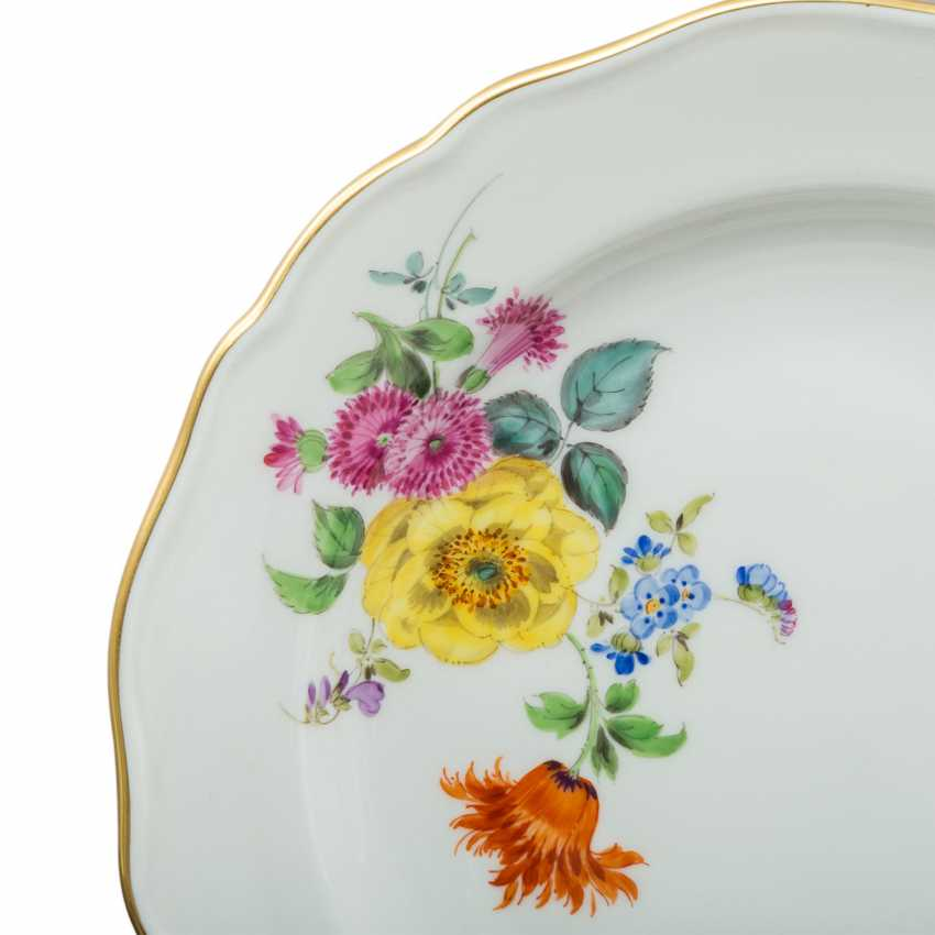 MEISSEN tea and coffee service for 6 persons 'German flower', 1. Choice, 20. Century - photo 2