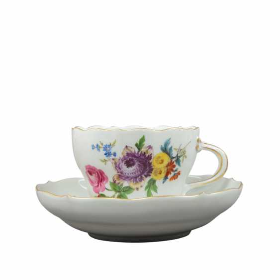 MEISSEN tea and coffee service for 6 persons 'German flower', 1. Choice, 20. Century - photo 3