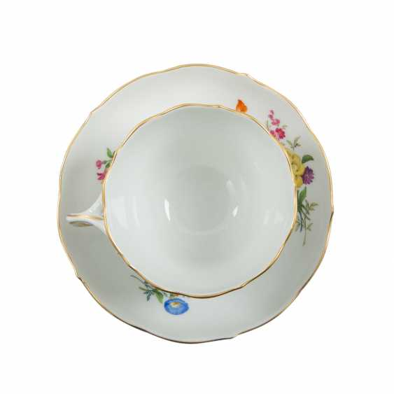 MEISSEN tea and coffee service for 6 persons 'German flower', 1. Choice, 20. Century - photo 6