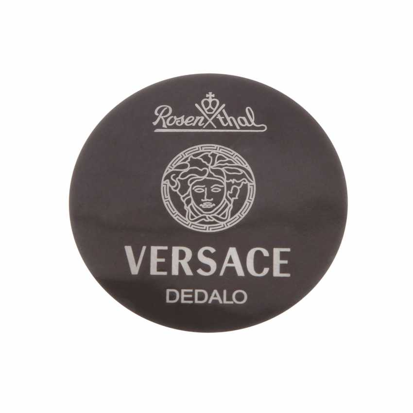 ROSENTHAL meets VERSACE Service 6 persons 'Dedalo' anthracite-platinum, 20. Century - photo 5