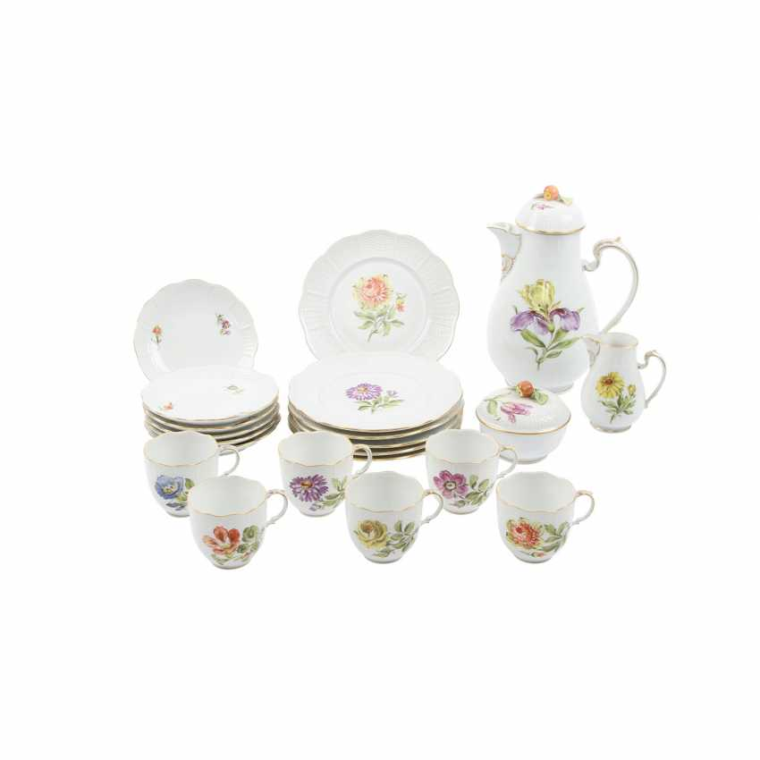 LUDWIGSBURG coffee service for 6 persons, 'flowers', 20. Century - photo 3
