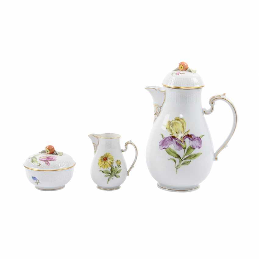LUDWIGSBURG coffee service for 6 persons, 'flowers', 20. Century - photo 5