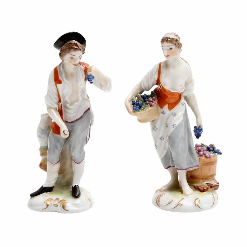 LUDWIGSBURG 2 Figuren 'Winzerin und Winzer', 20. Jahrhundert - photo 1