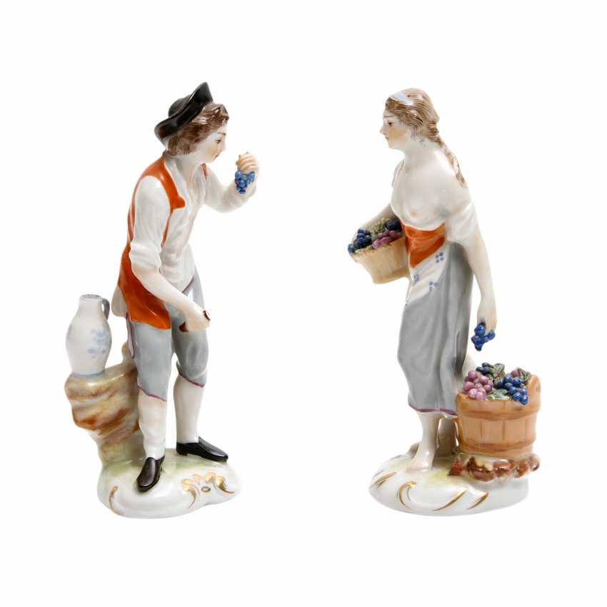 LUDWIGSBURG 2 Figuren 'Winzerin und Winzer', 20. Jahrhundert - photo 2