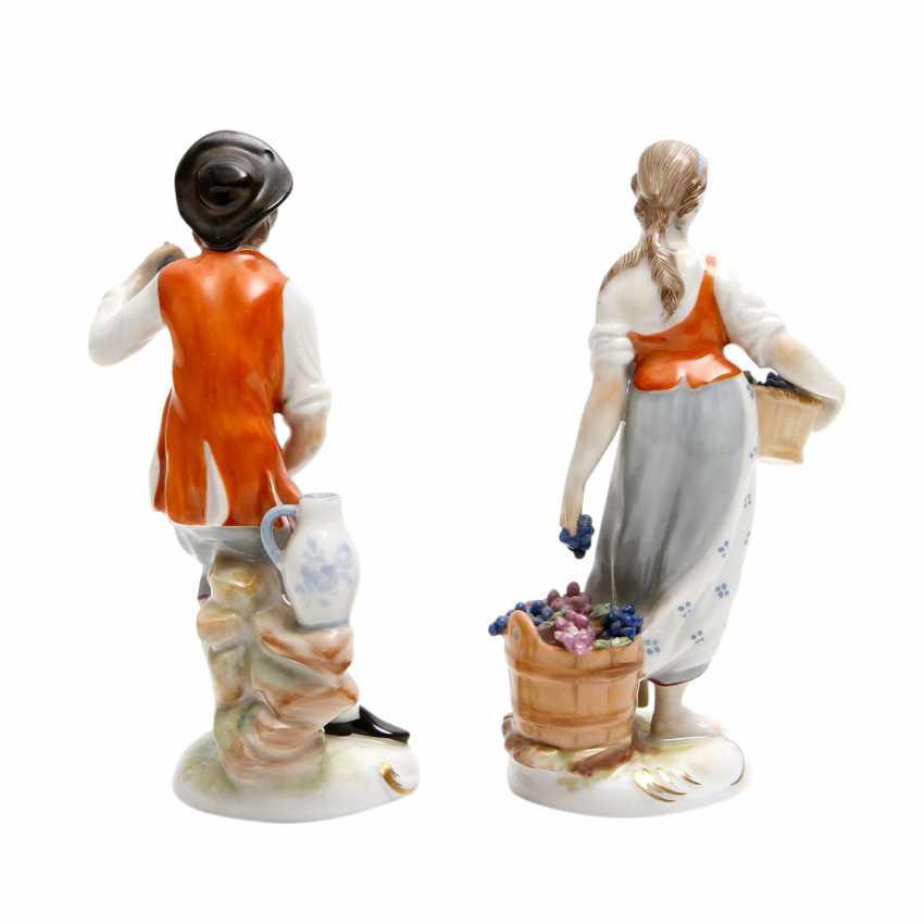 LUDWIGSBURG 2 Figuren 'Winzerin und Winzer', 20. Jahrhundert - photo 3