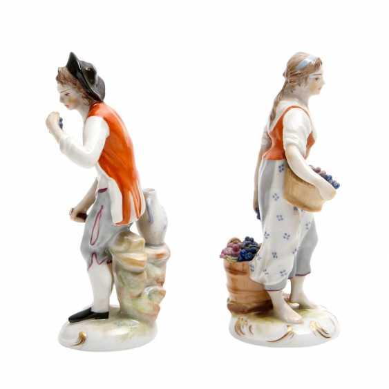 LUDWIGSBURG 2 Figuren 'Winzerin und Winzer', 20. Jahrhundert - photo 4