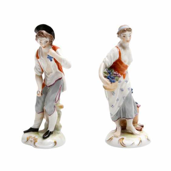 LUDWIGSBURG 2 Figuren 'Winzerin und Winzer', 20. Jahrhundert - photo 5