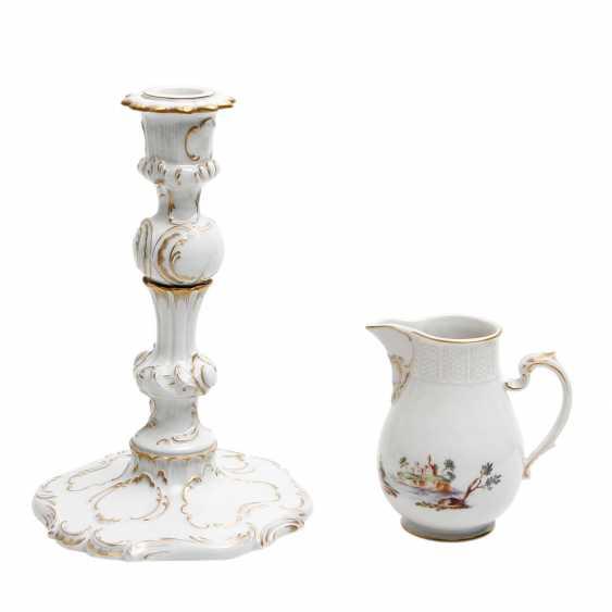 LUDWIGSBURG candle holder and cream jug, 2. Choice (?), 20. Century - photo 1
