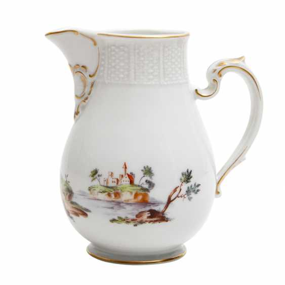 LUDWIGSBURG candle holder and cream jug, 2. Choice (?), 20. Century - photo 5