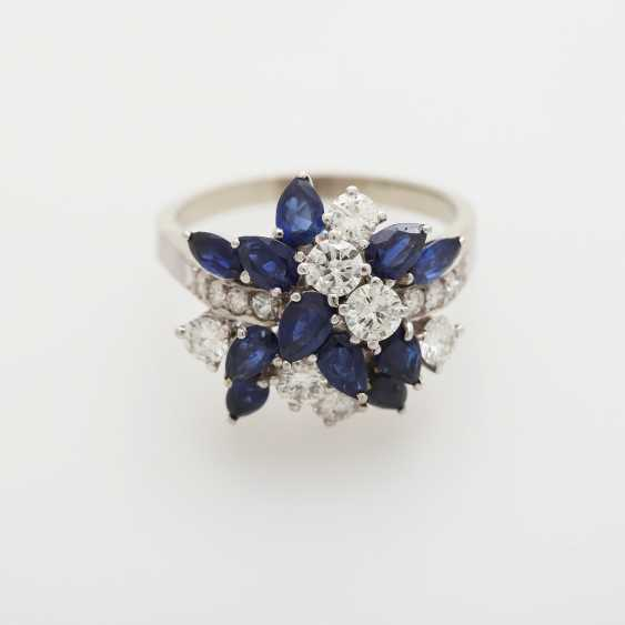 Ladies ring m. sapphires - photo 1
