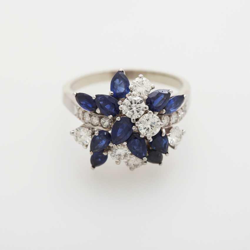 Ladies ring m. sapphires - photo 1