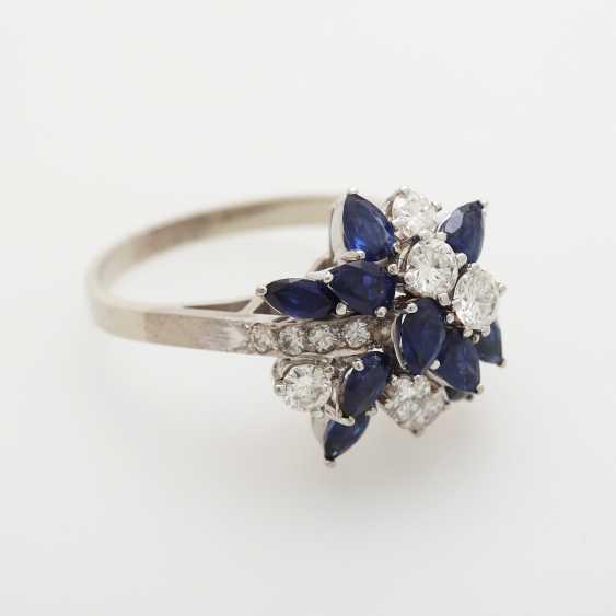 Ladies ring m. sapphires - photo 2