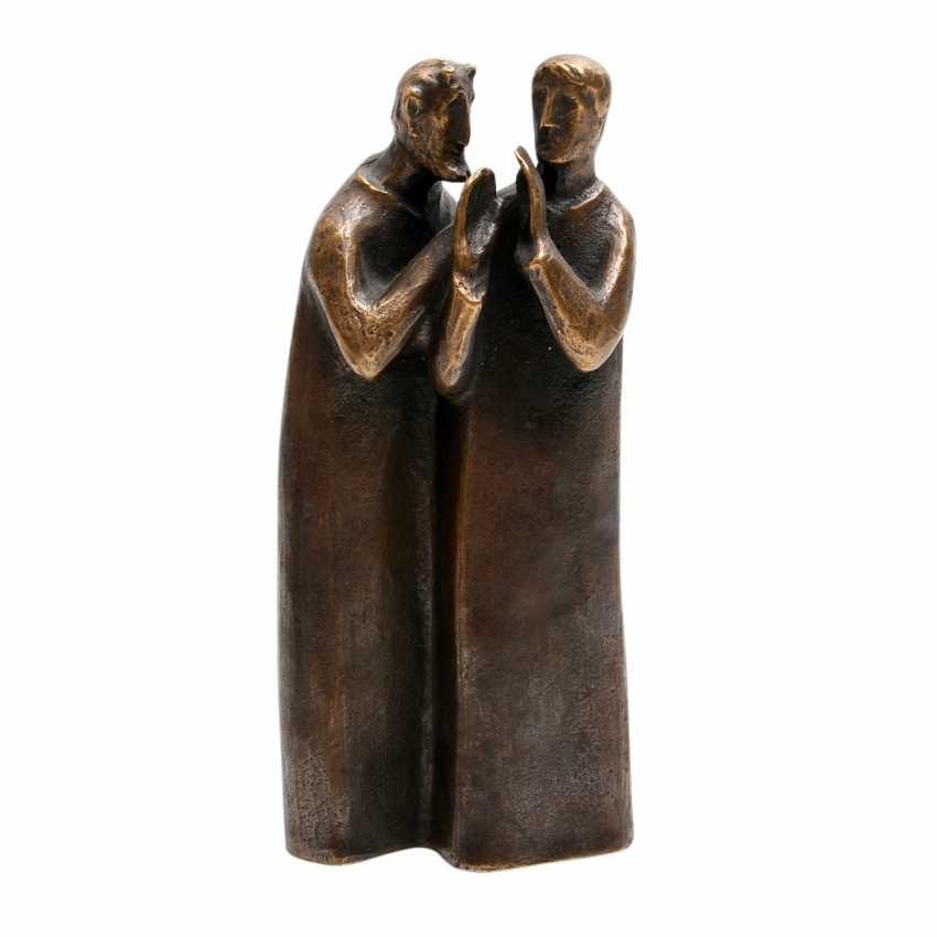 Konvolut 2 Figuren, Bronze, 20. JahrhunderTiefe: - photo 2