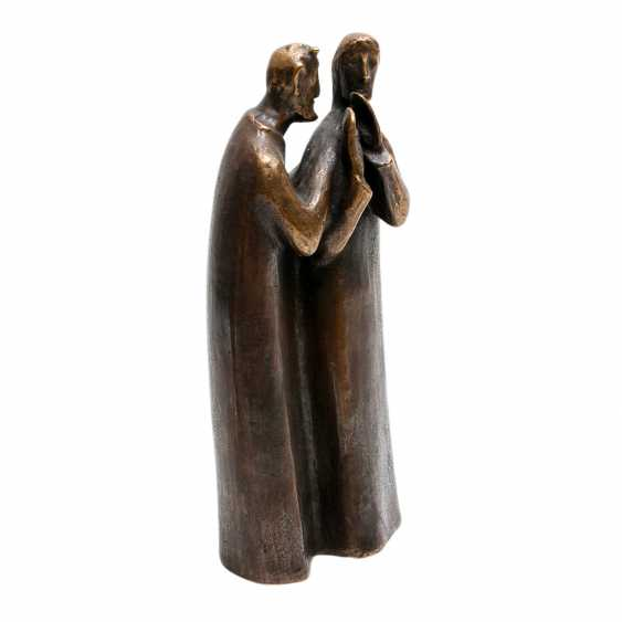 Konvolut 2 Figuren, Bronze, 20. JahrhunderTiefe: - photo 3