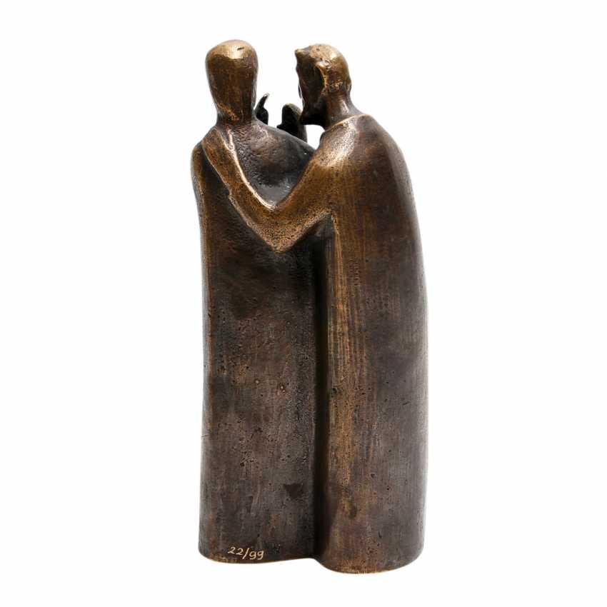 Konvolut 2 Figuren, Bronze, 20. JahrhunderTiefe: - photo 4