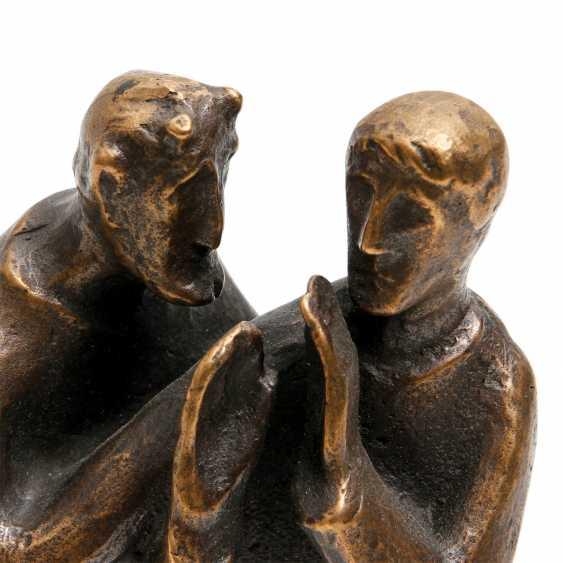 Konvolut 2 Figuren, Bronze, 20. JahrhunderTiefe: - photo 6
