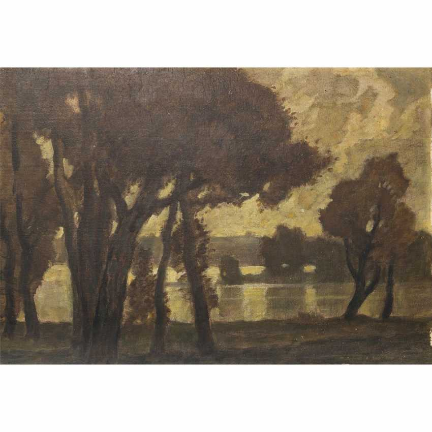 """DILL, LUDWIG, (Gernsbach, 1848-1940 Karlsruhe), """"Autumn Book by the lake"""", - photo 1"""