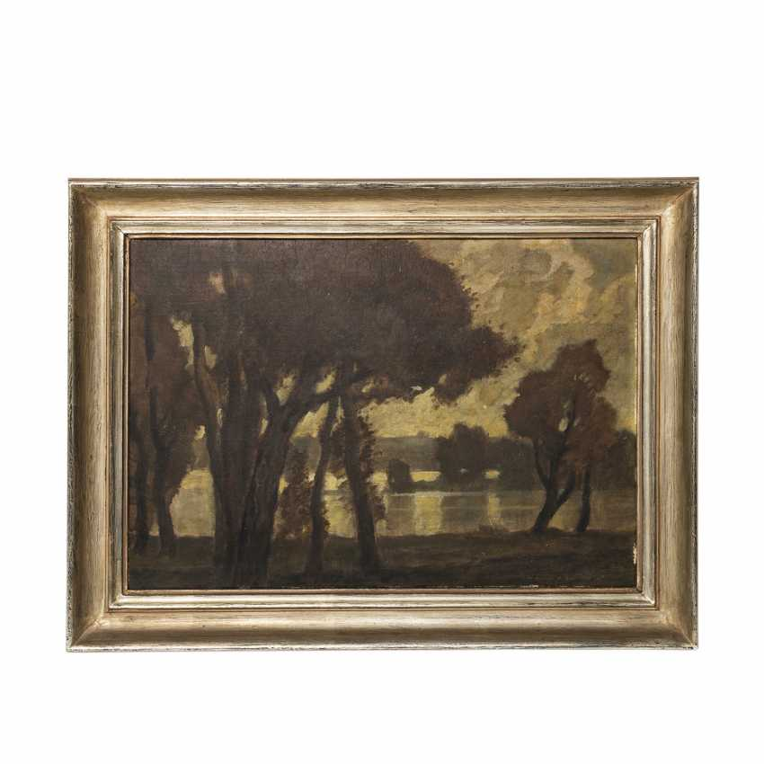 """DILL, LUDWIG, (Gernsbach, 1848-1940 Karlsruhe), """"Autumn Book by the lake"""", - photo 2"""