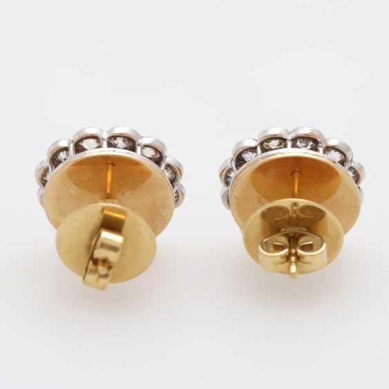"Earrings ""flowers"" with diamonds, - photo 4"