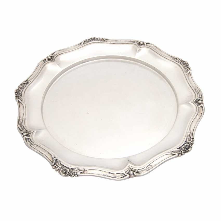 BRUCKMANN, plate, 800 silver, early 20th. Century - photo 1
