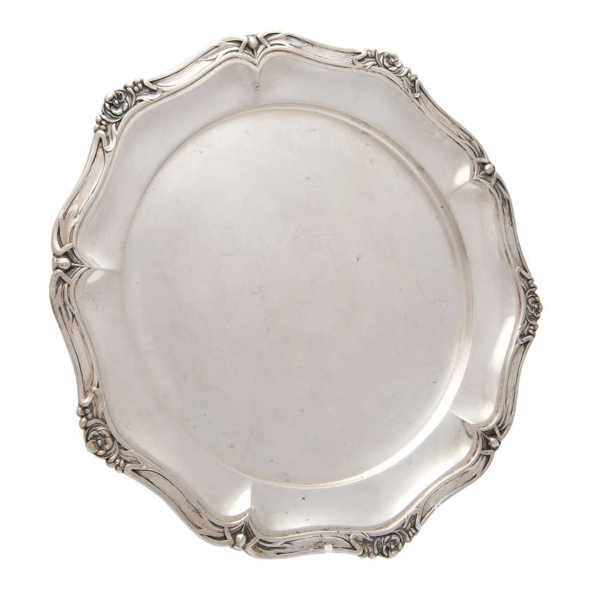 BRUCKMANN, plate, 800 silver, early 20th. Century - photo 3