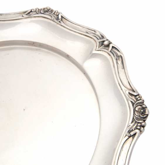 BRUCKMANN, plate, 800 silver, early 20th. Century - photo 4