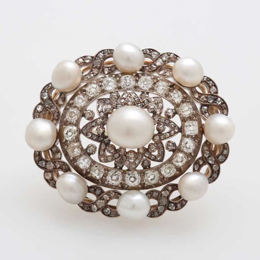 Brooch occupied m. cultured pearls - photo 1