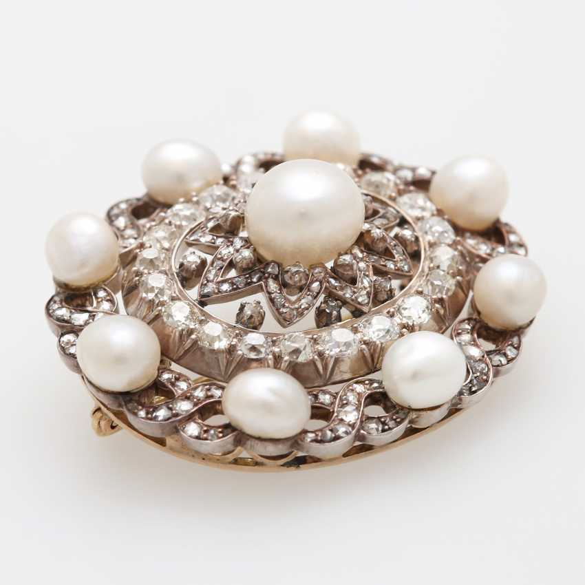 Brooch occupied m. cultured pearls - photo 3