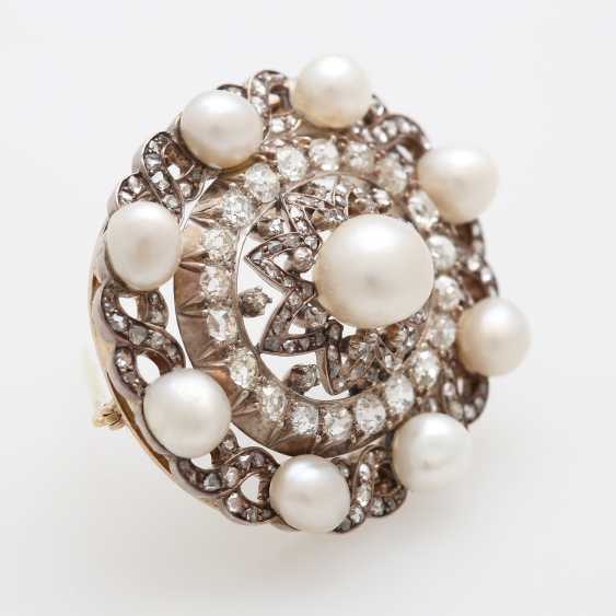Brooch occupied m. cultured pearls - photo 2