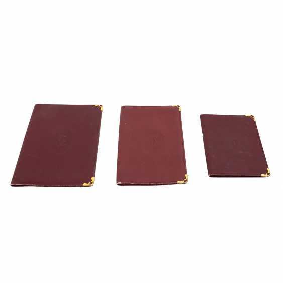 CARTIER elegant leather sheath Set. - photo 1