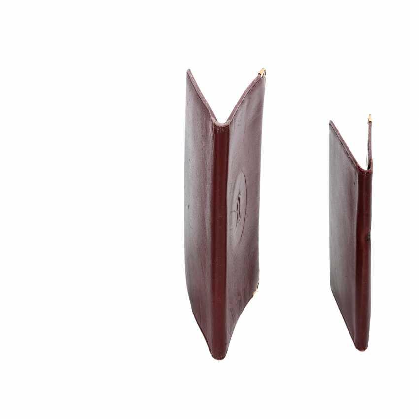 CARTIER elegant leather sheath Set. - photo 3