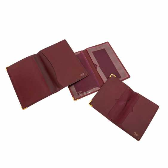 CARTIER elegant leather sheath Set. - photo 4
